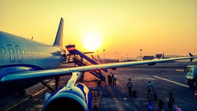 Foto van een vliegtuig